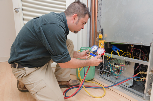 Photo of HVAC technician